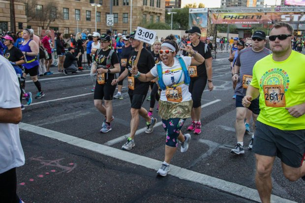 With Runner's Den on November 5, 2017 at the Phoenix 3TV 10k and Half Marathon in Downtown Phoenix