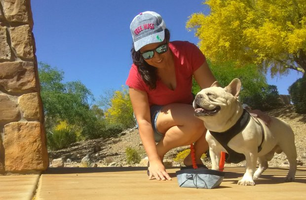 Keepy my dog hydrated during our walks is important to me. The Stunt Puppy Nano Bowl makes it easy.