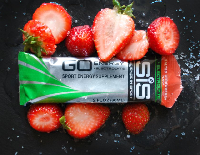 Fun with fuel. Salted Strawberry + Electrolytes by Science in Sport. © Photo and styling by Andrea Heser